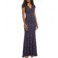 Eliza J V-Neck Lace Mermaid Gown length for Girl in new look 1761C1526