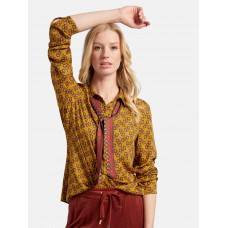 Basler Blouse with long sleeves and graphic print clothing fit maize yellow/multicoloured for Women VDSWR857