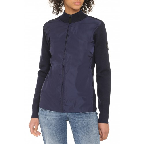 Canada Goose Windbridge cardigan with nylon panel suits blue for Young Women on clearance Z0PHC7052
