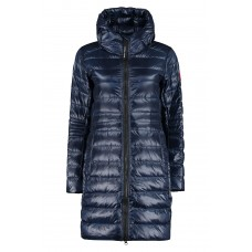 Canada Goose Cypress long hooded down jacket fit blue for Girl the best Discount 50VC16834