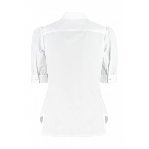 BARBA Napoli Cotton poplin shirt suits White for Female Clearance PSBGO4304