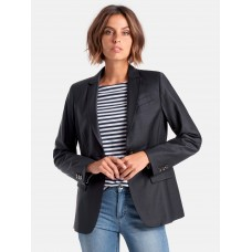mayfair by Peter Hahn Blazer with decorative stitching short navy for Female RGFSH4694