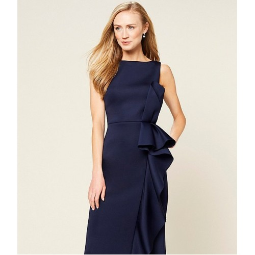 Eliza J Ruffle Front Scuba Crepe Gown fit for Young Women LXAPS8798