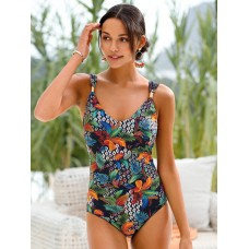 Grimaldimare Swimsuit with print 90s black/multicoloured for Young Women Trends Discount PUA2V8416