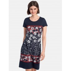Betty Barclay Jersey dress with short sleeves clothing 90s navy/multicoloured for Women YKO7E2850